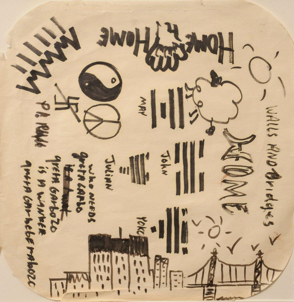 The Beatles / John Lennon: original doodles and - 4