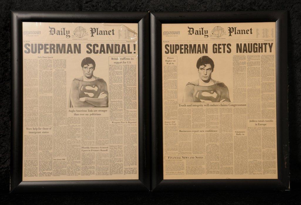 Film: Superman II Daily Planet newspaper props - 2