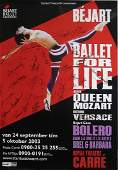 Queen: Promo poster for Maurice Bejart's 'Ballet for