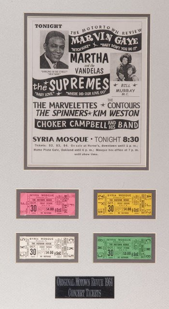 1: Motown Concert ticket set
