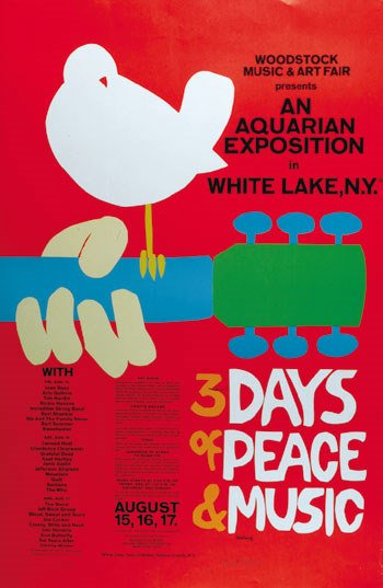 2: Woodstock poster signed by artist