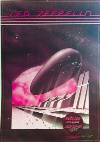 3: Led Zeppelin Oakland Stadium alt version poster