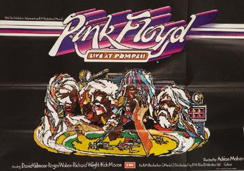 6: Pink Floyd Live at Pompeii UK Quad poster