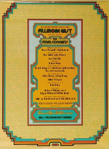 12: Fillmore East Closing Night Poster