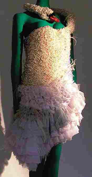 Björk famous stage worn Swan Dress