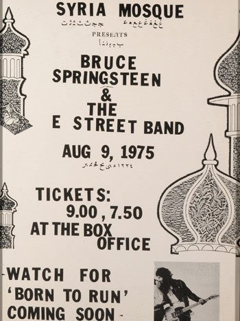 20: Bruce Springsteen Syria Mosque concert poster