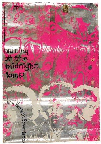 26: Jimi Hendrix Burning The Midnight Lamp poster
