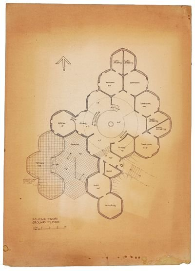 124: John Lennon drawings and architects plans - 2