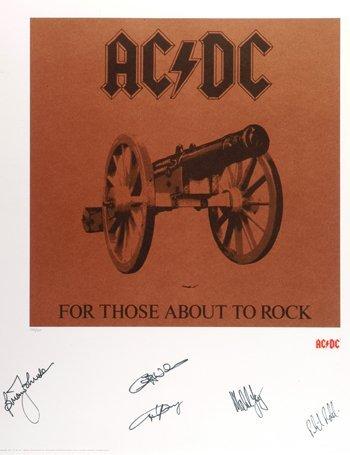 1001: AC/DC - Signed Graphic Art