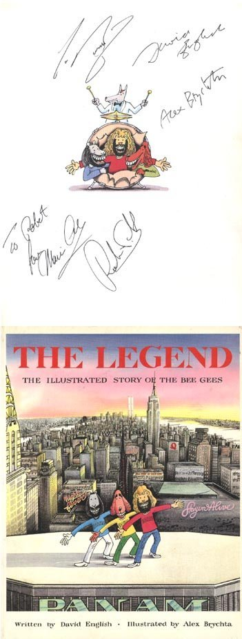 1003: Bee Gees signed book
