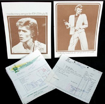 1006: David Bowie Young Americans memorabilia