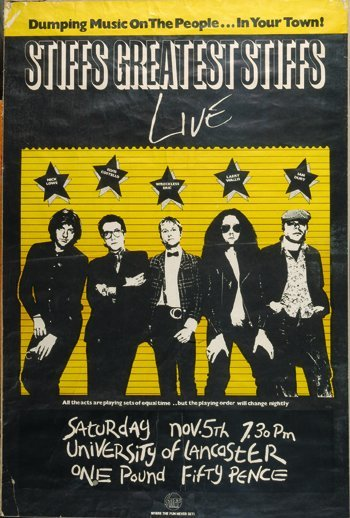 1010: The Stiffs Elvis Costello poster