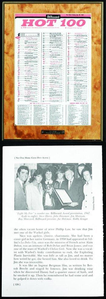 1015: Jim Morrison Billboard award for the Doors