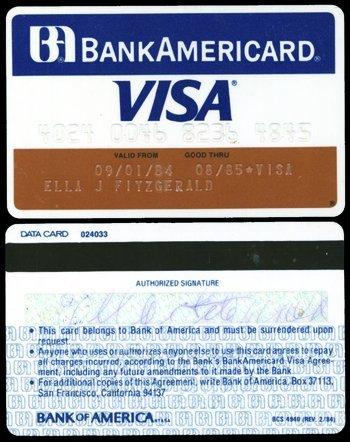 1016: *Ella Fitzgerald credit card