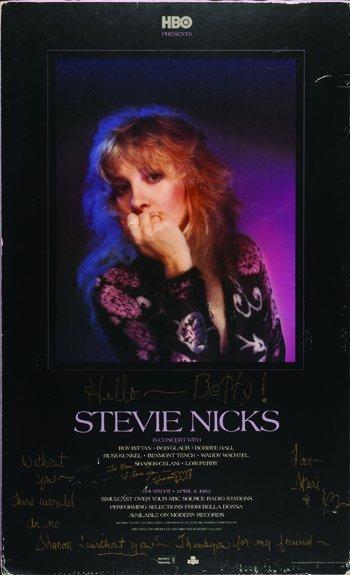 1018:  Fleetwood Mac  Stevie Nicks signed poster