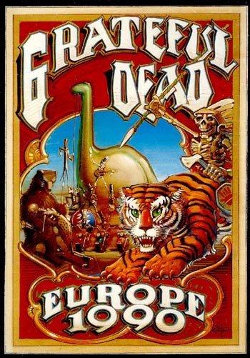 1019: Grateful Dead 'Europe '90' concert programme