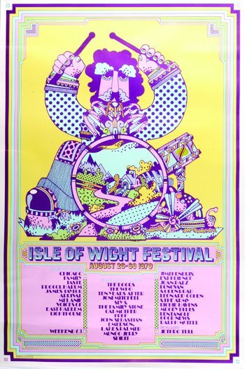 1026: Isle of Wight Festival poster, 1970