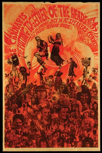 4: Martin Sharp 'Gathering of the Heads' poster