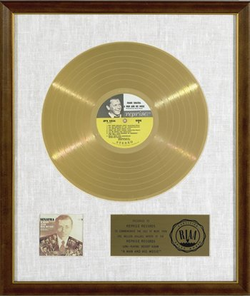 12: Frank Sinatra White Matte Award