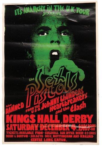14: Sex Pistols 'Live at Derby' poster