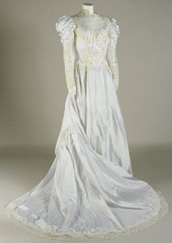 18: Madonna 'Like A Virgin' stage worn Wedding Gown