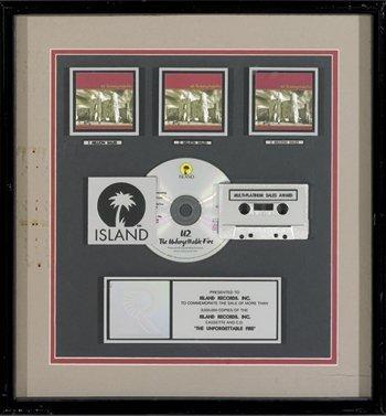 22: U2 'Unforgetable Fire' Platinum Award, 1984