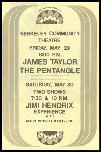 105: Hendrix Berkeley Community Theatre programme, 1970