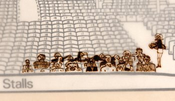 277: John Lennon original doodled theatre plan