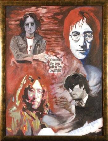 1011: John Lennon, original painting by James Wilkinson