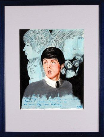 1014: Paul McCartney original painting James Wilkinson