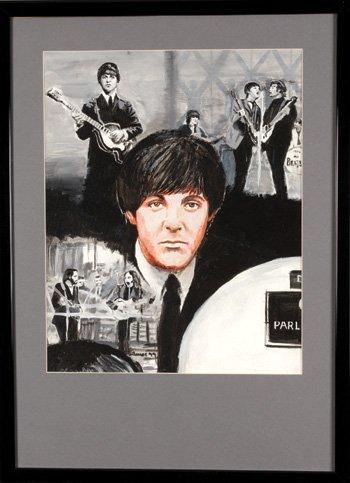 1016:Paul McCartney original painting James Wilkinson