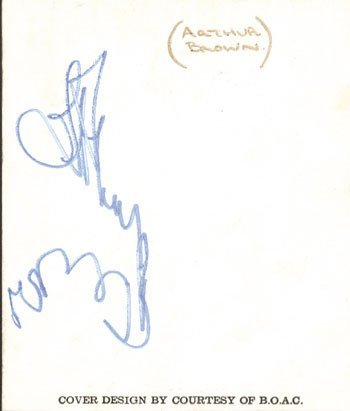 1019: Arthur Brown autograph