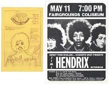 1070 Three original Jimi Hendrix Experience handbills