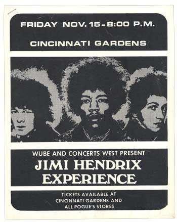 1071: Jimi Hendrix Cincinnati Gardens handbill 1969
