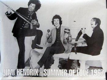 3003: Jimi Hendrix Poster - Summer of Love 1967