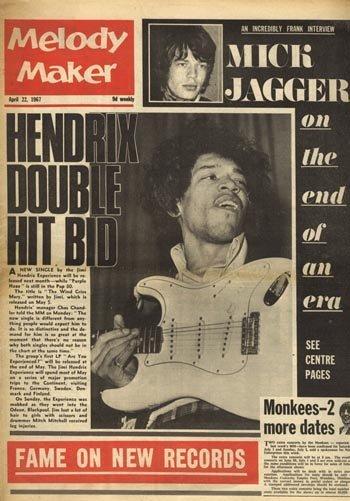 3004: Jimi Hendrix Melody Maker magazine, 22 April 67