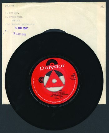 3005: Jimi Hendrix Hey Joe / Stone Free promo S. Africa