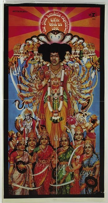 3016: Jimi Hendrix 'Axis Bold As Love' poster
