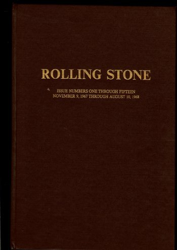 3040: RARE Rolling Stone Mag Bound issues 1-15, 1967-68