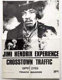 3104: Jimi Hendrix 'Crosstown Traffic' poster