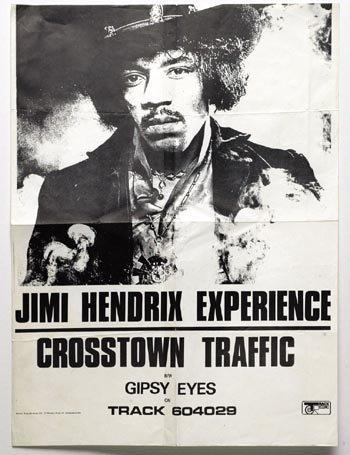 3104: Jimi Hendrix 'Crosstown Traffic' poster