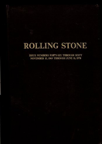 3106: RARE Rolling Stone Mag Bound issues 46–60 69-70