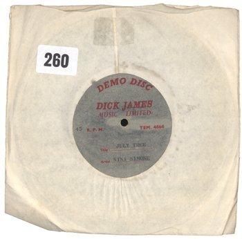 9: Nina Simone Dick James acetate