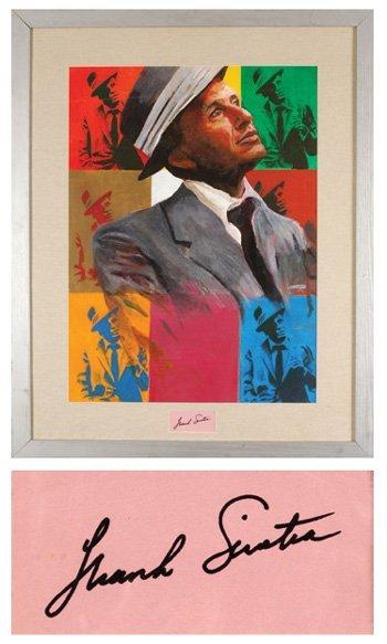 10: Frank Sinatra original painting w/ signature