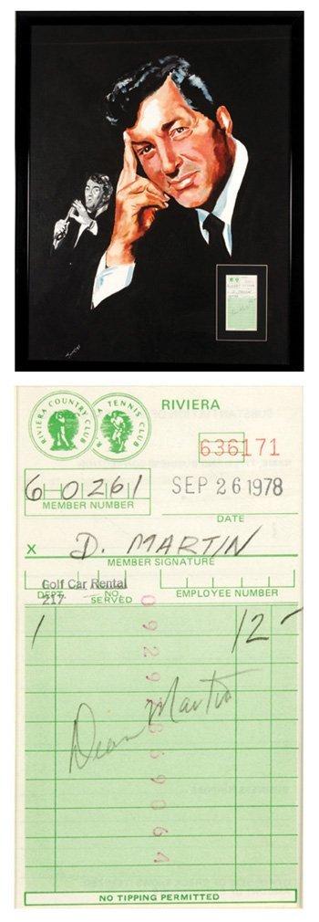 11: Dean Martin, original painting w/ signature
