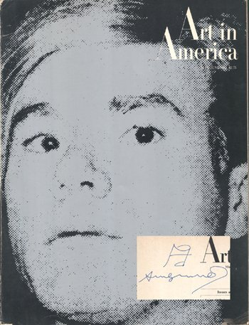 22: Andy Warhol signed Art Mag with sketch