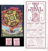 37 1970 Isle of Wight programme flyer  tickets