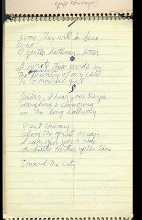 77: The Doors Jim Morrison's last handwritten notebook
