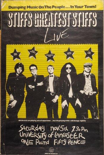 1011: The Stiffs / Elvis Costello original poster