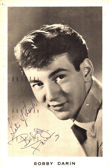 1012: Bobby Darin signed postcard, 1959